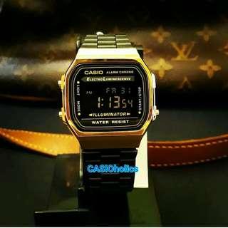 Sale Casio Black Gold A168WEGB-1