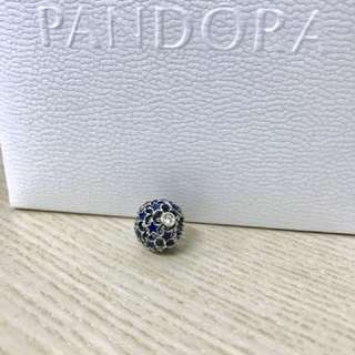Pandora藍色繁星串飾