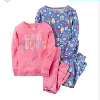 BN Carter's 4-pc Sweet Dreams Snug Fit Cotton PJs