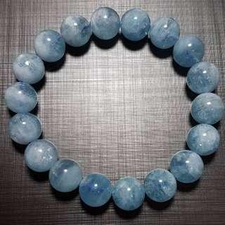 水晶 crystal 海藍寶10.5mm手串