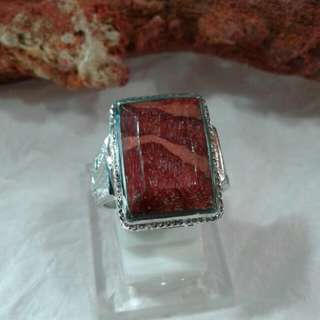 Red coralle ring