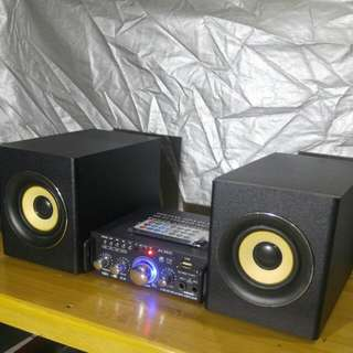 Karaoke mini amplifier+ woofers
