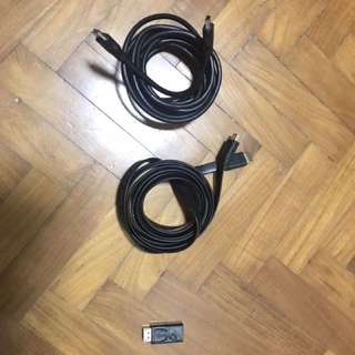 HDMI cables and Display