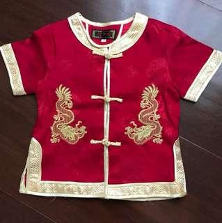 Baju imlek anak umur 1-2 tahun