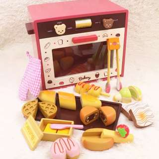 (PO) BN Wooden Magnetic Bakery Oven Assorted Breads Set