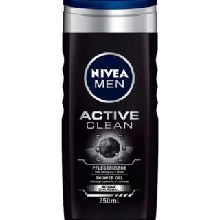 NIVEA Men Active Clean Shower Gel *BEST DEAL!*