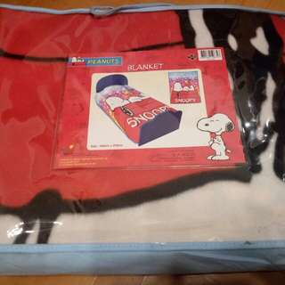 Snoopy 雙人毛毯100%new