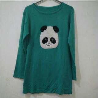 Baju rajut panda lucu