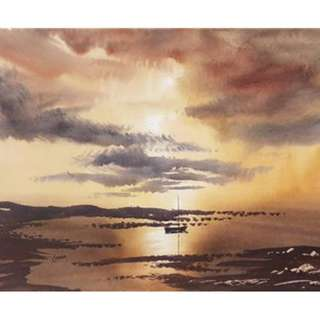Sunset Original Art Watercolour Painting