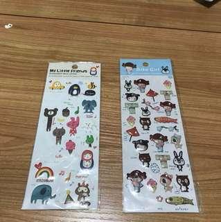 貼紙 和服 動物 俄羅斯娃娃