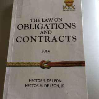 The Law on Obligations and Contracts by Hector De Leon