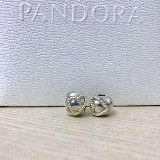 Pandora 心心相印固定扣(一對)