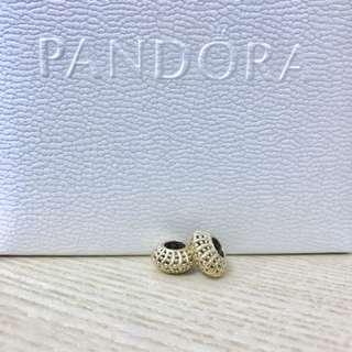 Pandora 14k金小串飾(一對)