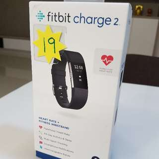 Fitbit Charge 2 Heart Rate + Fitness Wristband (Black S size)