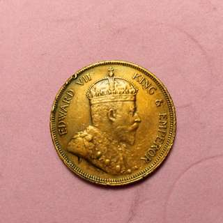 1 cent straits settlements Edward Vii 1908 coin