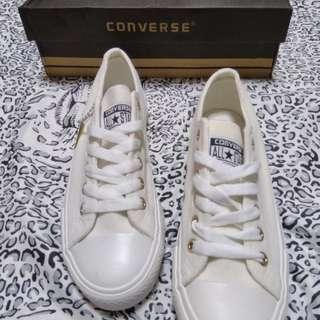 Converse Ladies Gamuza white Replica