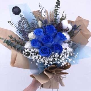 Rustic - Blue Roses