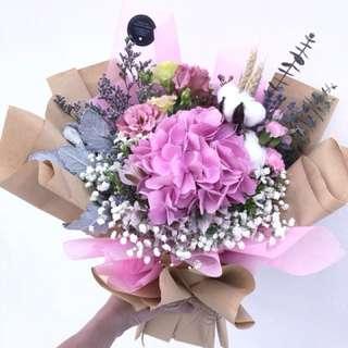Rustic - Pink Hydrangea