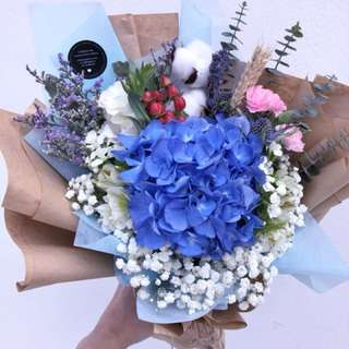 Rustic - Blue Hydrangea
