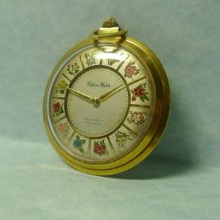 1960s' Citizen pocket watch with rare flower dial  (  Display item )