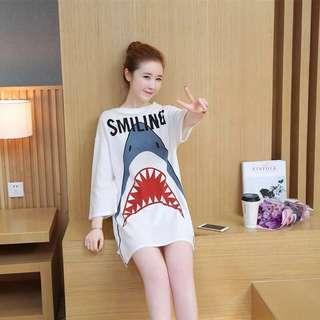 Shark Doo Doo Tshirt-Dress