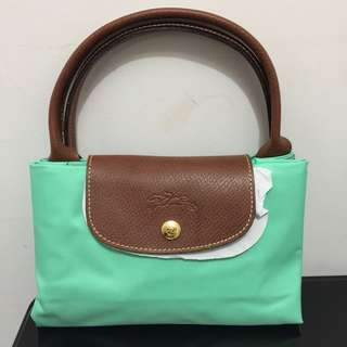 Longchamp LE PLIAGE short handle bag in Green