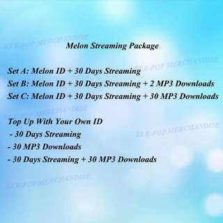 Melon Streaming Top Up Package
