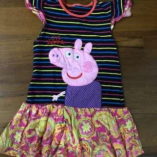 Peppa pig striped dress