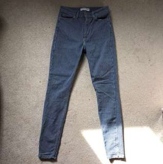 American Apparel Stripped Blue Jeans