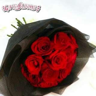 Valentine Bouquet Anniversary Fresh Flowers V48 - EDCFQ     58