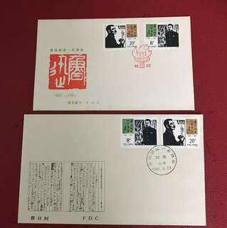 China stamp 1981 J67 2 FDC