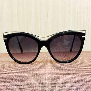 Alexander McQueen Cat Eye Palladium Sunglasses