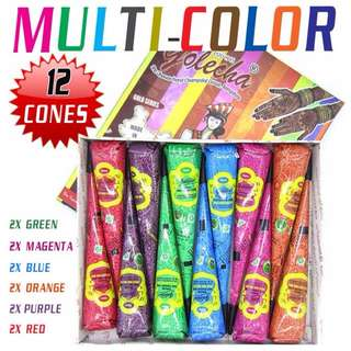 Golecha multi color henna cones/ tubes (PROMOTION)