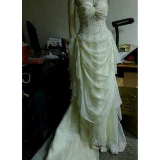 🚚 白紗 結婚禮服 婚紗 新娘小拖尾婚紗 作品 畢展 表演 自助婚紗