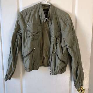 Military Green Windbreaker