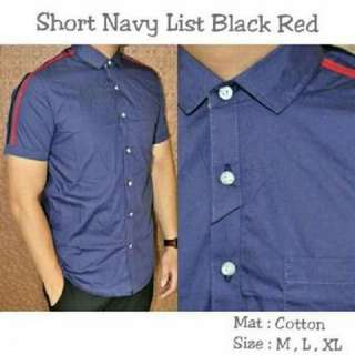 Short navy list black red 90.000 cotton size M