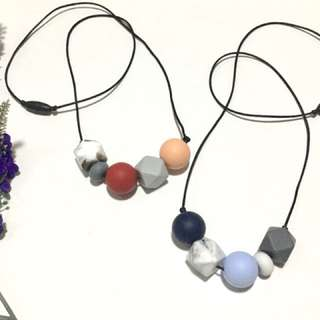 Teething Necklace - Trapeze