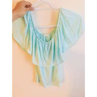 Pretty butterfly off shoulder top
