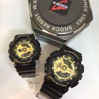 🧟♂️🧟♀️黑金情侶 香港一年保🧟♀️🧟♂️ G-Shock 零售價:1188 Baby-G零售價:1088 💑情人節送禮精選,優惠期至2月15日💑 ❤️熱賣款情侶款黑金 會員價 1788/對❤️