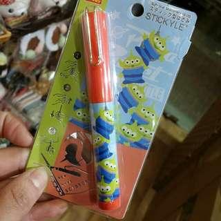 原裝日本 迪士尼 toy story Alien 三眼仔 筆裝 收納剪刀 小剪刀 Stickyle Scissors