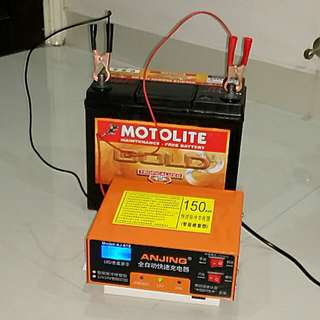 Professional Workshop 12V CAR & Motorcycle Battery Charger and Repair Machine ( Intelligent-pulse-repair-5 stage)