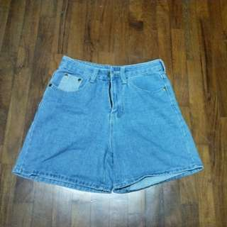 BN Light Denim Patched Shorts