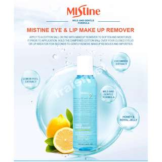 (Sales + Free Postage) Mistine Eye and Lip Make Up Remover 100 ml