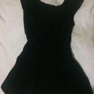 Black cross back dress