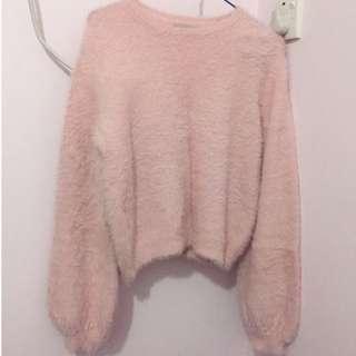Bershka BSKGIRL 粉紅冷衫 dirty pink Cold shirt m size