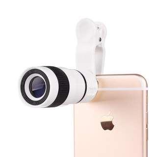 8X Optical Zoom Mobile Telescope Camera Lens Clip