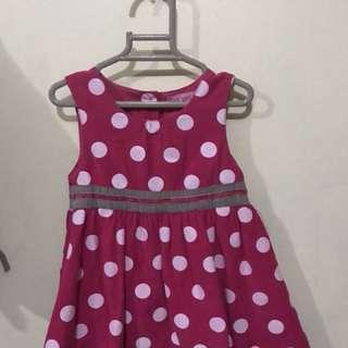 Pink polka dot baby dress