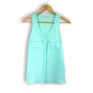 Forever New Mint Sleeveless Top Sz 4