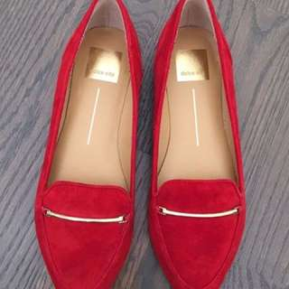 Dolce Vita Suede Leather Red Flats - 37.5