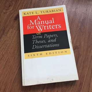 Turabian's A Manual for Writers